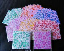 "120 sheets Origami paper lucky crane bird turtle folding kit Heart Pattern 2""x2"""