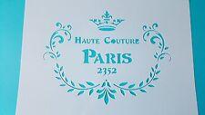 Schablonen Paris  Vintage- Look Stanzschablonen Flex- Schablone Shabby Tattoos