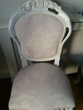 Laura Ashley 'Josette' amethyst louis french style boudoir chair with cushion