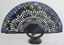 Spanish flamenco wooden hand fans eventails fächers ventagli abanicos fretwork