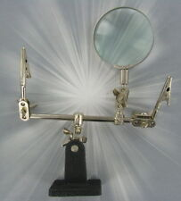 Helping Hands, 4 times magnifying glass, third hand, Soldering holder, clamp