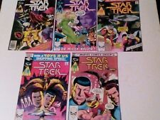 STAR TREK x 5 MARVEL COMICS LOT