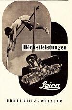 1936 Leica fotocamera bastone altamente Springer atleti circa 8x12 ORIGINALE pubblicità a mezzo stampa