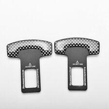 2PCS Carbon Fiber Car Safety Seat Belt Buckle Alarm Stopper Clip Clamp Universal