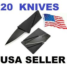 20 x Credit Card Knives Lot, folding, wallet thin, pocket survival micro knife