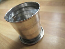 ANTIQUE HALLMARKED SOLID SILVER COLLAPSIBLE CUP - STIRRUP/HUNTING/FISHING - 1905