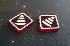 X-Wing Miniatures compatible, acrylic tractor beam tokens x 2