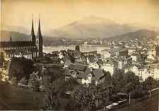 Suisse, Luzern  Vintage albumen print Tirage albuminé  18x24  Circa 1880