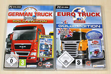 2 pc jeux collection german truck gold euro simulateur Gold-trucker camion conduire