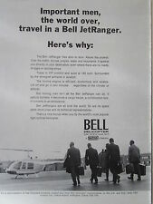7/1971 PUB BELL HELICOPTER TEXTRON BELL JET RANGER ORIGINAL HELICOPTERE AD