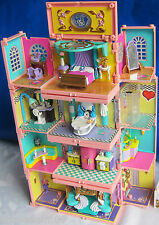 Mini Polly Pocket Stapelvilla 4 Zimmer Pavillon Pool Dächer Figuren