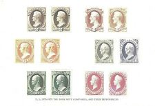 U.S. 1870-73 Bank Note Stamp Varieties Reproductions on a 10x7 Card