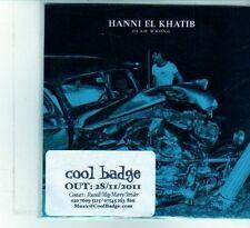 (DU946) Hanni El Khatib, Dead Wrong - 2011 DJ CD