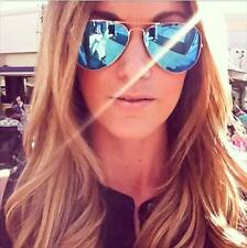 Hot Blue Mirror Gold Frames Aviators Blogger Sunglasses 1106 With Minor DEFECTS