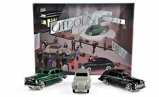 CIJ - Coffret Salon de Paris 1949 Citroën 2CV + Ford Vedette + Peugeot 203 1/43