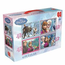 DISNEY FROZEN 4-IN-1 JIGSAW PUZZLE - GAMES/PUZZLES JIGSAWS BRAND NEW