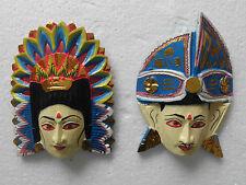 Máscara Madera Oriental/Asiático Multicolor Rama Sita Bali NMST65X