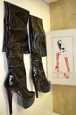 bottes cuissardes taille 42 en cuir vernis