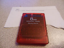 Red FMCB Genuine Sony PlayStation 2 8MB Memory Card with Free Mcboot 1.952
