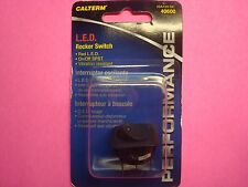 """CALTERM ILLUMINATED ROCKER TOGGLE SWITCH 25A 12V RED L.E.D. ON OFF 5/16"""" HOLE"""