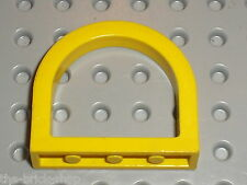 LEGO yellow Fabuland Front Window Round Small ref x650 / Set 140 128 134 3678...