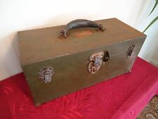 Vintage UNION STEEL CHEST Corp. Tool Box w/Tray Lock & 17 pcs of Hand Tools