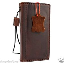 genuine vintage leather case for iphone 5s 5 5c c book wallet cover retro style