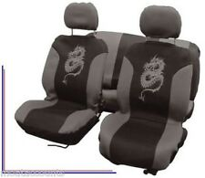 Silver Grey Dragon Seat Cover Set [CPT0310079] 8 Piece Seat