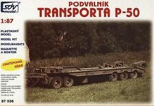 SDV P-50 Low-Bed Trailer -Unassembled Plastic Kit 1/87-compatible With Minitanks