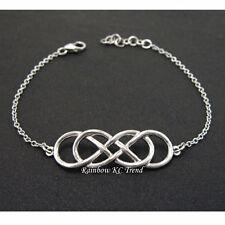 Infinity Revenge Emily Thorne Silver Double 8 Bracelet