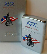 Zippo lighter CAMEL RJR PRIDE IN AMERICA HIGH POLISH CHROME MINT IN BOX 2001 New
