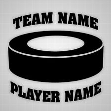 Hockey Puck wall decal personalized sticker,custom team name Hockey puck sticker
