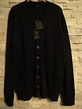 KARL LAGERFELD PARIS CHANEL BLACK WOOL BLEND CARDIGAN SWEATHER ITALY  SIZE L