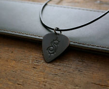 Hand Made Etched Copper Guitar Pick Necklace - Slipknot