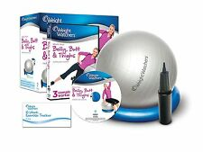 Weight Watchers Belly Butt & Thighs Kit Stability Ball 3 Complete Workouts w/DVD