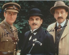 Philip Jackson and Hugh Fraser Photo Signed In Person - Poirot - B462
