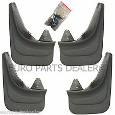 4x Rubber Moulded Universal MUD FLAPS GUARDS VOLKSWAGEN PASSAT GOLF BORA PASSAT