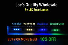 (10)FREE-BUY SIX(6)8V LED FUSE LAMPS/WHITE-BLUE/RECEIVER/METER/DIAL/SX-838/2270