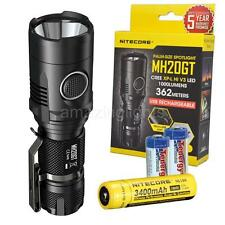 Nitecore MH20GT 1000 Lumen USB Rechargeable LED Flashlight w/ 3400 mAh 18650