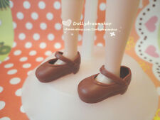 Doll Shoes~Takara Licca Chocolate Brown school shoes 1PAIR/Jenny/Big Feet Barbie