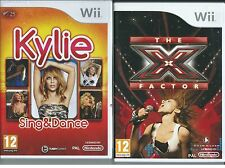 MINT+UK=KYLIE SING AND DANCE+X FACTOR=MICROPHONE COMPATIBLE not inc=Wii-DANCING