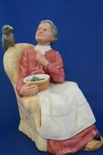 Royal Doulton Pretty Polly HN 2768 signed Steadman Old Lady Feeding Parrot
