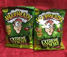 WARHEADS 2 Bags Of Candy EXTREME SOUR Assorted Flavors CANDIES Exp. 11/18+