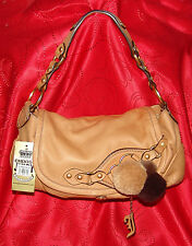 100% Authentic Juicy Couture Shoulder Bag, Purse, New with tags Caramel Leather