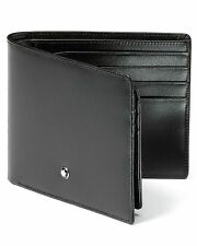 $495 MONTBLANC MESITERSTUCK BLACK Westside 9CC ITALY LEATHER ID BILLFOLD Wallet