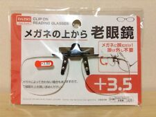 DAISO JAPAN Optical Clip-on Flip-up Magnifying Reading Glasses +3.50 by Airmail