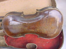 ANTIQUE  STAINER VIOLIN EARLY WITH OCTAGONAL BOW AND WOOD CASE