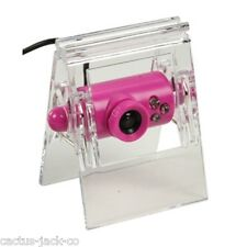 Nueva Rosa Clip-on Usb Webcam Con Stand Y Clip, 30fps