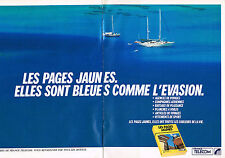 PUBLICITE ADVERTISING 024   1990   FRANCE TELECOM   les pages jaunes  ( 2 pages)