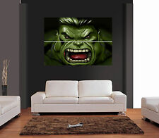 THE INCREDIBLE HULK FACE Giant Wall Art Print Picture Poster